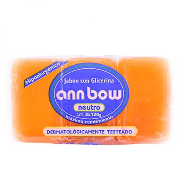 Jabón de Glicerina Ann Bow X3 120g