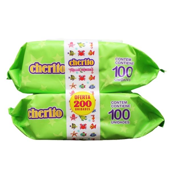 Pack Cherito Toallitas Húmedas 100 x2