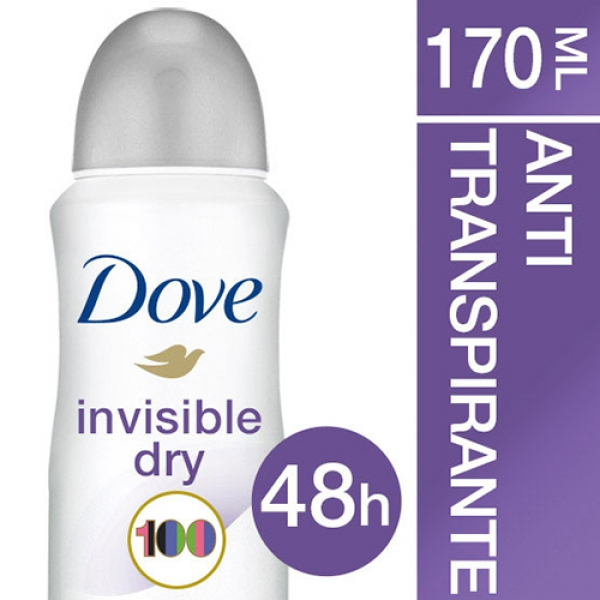 Antitranspirante Dove Invisible Dry Aerosol 100ml