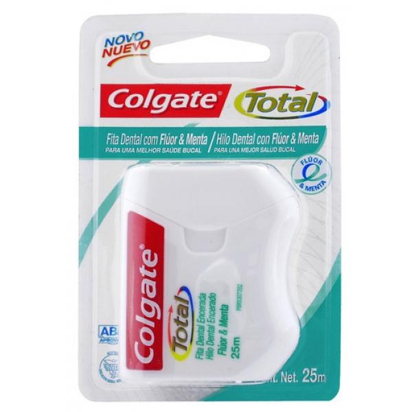 Hilo Dental Colgate Total 12 Fluor&Menta 25m
