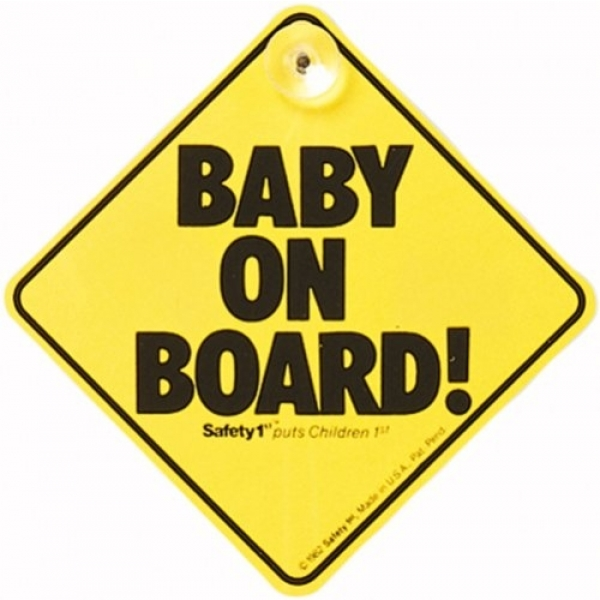 Cartel Safety 1st. Baby on Board Amarillo