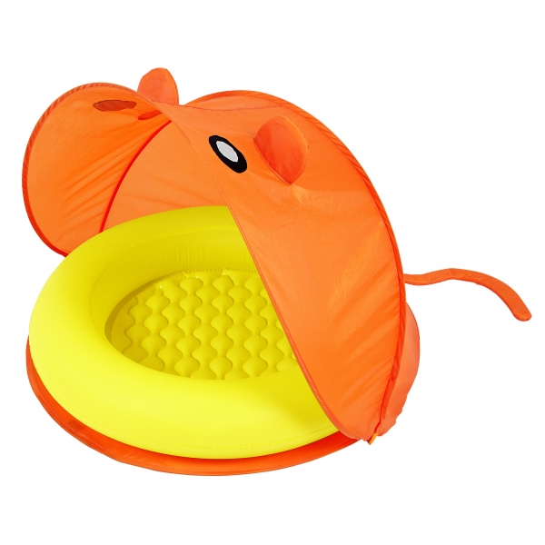 Piscina Inflable Naranja con Toldo Bestway 23L