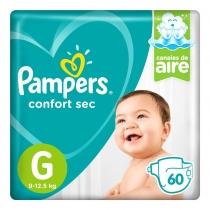 Pampers Confort Sec  G (9 a 12.5 Kg) - x60