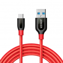 Cable de Carga PowerLine+ USB-C a USB 1.8mts Rojo