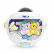 Proyector y Velador Infanti Ositos Gemelos