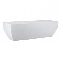 Maceta Amsterda Graphito Blanca 75x25cm