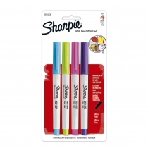 Marcadores Permanentes Sharpie Ultra Fino Colores Fashion x4