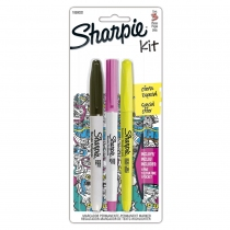 Set Sharpie Marcador Ultra Fino, Resaltador y Permanente