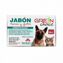 Jabón Hipoalergénico Green Choice Perros y Gatos 120Gr