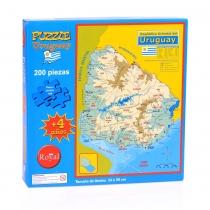 Puzzle Royal Mapa de Uruguay 200 Piezas