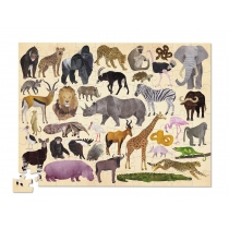 Puzzle Crocodile Creek 100 Piezas Animales Salvajes