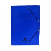 Carpeta Neox con Elástico Oficina Azul Opaco