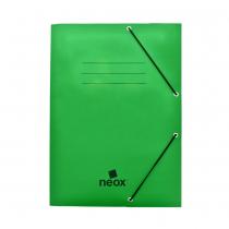 Carpeta Neox con Elástico Oficina Verde Opaca