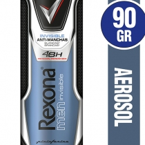 Antitranspirante Rexona Invisible Aerosol de Hombre 90ml