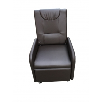 Sillón Poltrona Reclinable Pvc Marrón