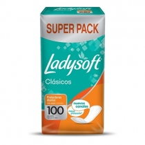 Protectores Diarios Ladysoft Clásico 100 unidades