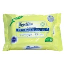 Toallitas Wetclean Desmaquillantes x25