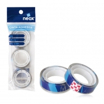 Cinta Adhesiva Neox Transparente x3