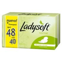 Toallitas Femeninas Ladysoft Normal con Alas 48 unidades