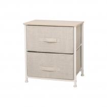Mueble 2 Cestos Tela Estructura Acero 45x30x51cm