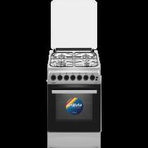 Cocina Enxuta CENX5544I Combinada 4 Hornallas Inox