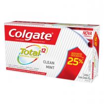Pasta de Dientes Colgate Total 12 Clean Mint 90G x2
