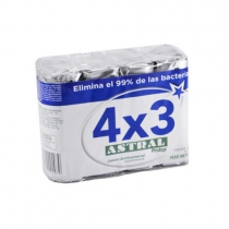 Jabón Astral Protex Plata 4x3