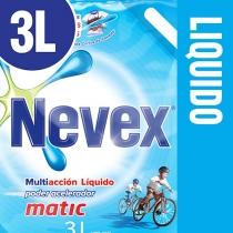 Jabón Líquido Nevex Matic para Ropa Repuesto 3L