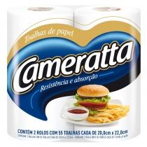 Papel de Cocina Cameratta Doble Hoja x2