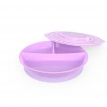 Plato Twistshake Dividido +6m Violeta
