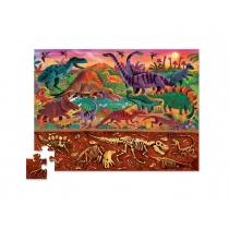 Puzzle Crocodile Creek 48 Piezas Arriba/Abajo Dino