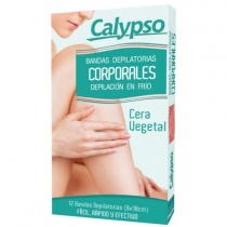 Bandas Depilatorias Calypso Corporales Vegetal x12