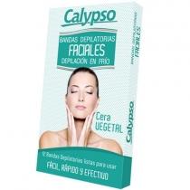 Bandas Depilatorias Calypso Faciales Vegetal x12