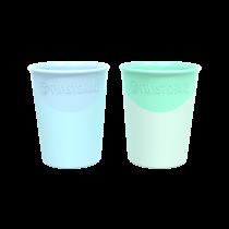 Vaso Twistshake 170 ml +6m Azul y Verde 2u