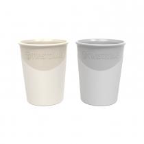 Vaso Twistshake 170 ml +6m Beige y Gris 2u