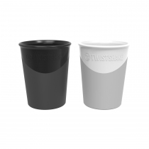 Vaso Twistshake 170 ml +6m Blanco y Negro 2u