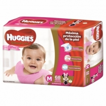 Huggies Natural Care Ellas M (5.5 a 9.5 Kg) - x68