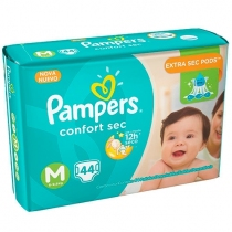 Pampers Confort Sec M (6 a 9.5 Kg) - x44