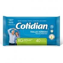 Toallitas Húmedas Cotidian Adulto x40