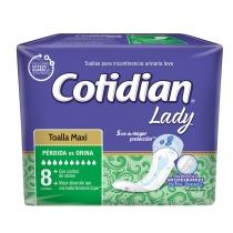 Toalla Femenina Cotidian Lady Maxi x8