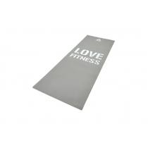 Colchoneta Yoga Reebok Mat Love 4mm Gris