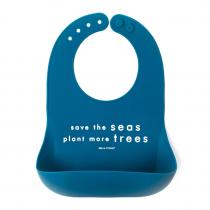 Babero Bella Tuno Silicona Save The Seas Azul