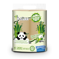 Papel Higiénico Be Eco Bambú Triple Hoja x4