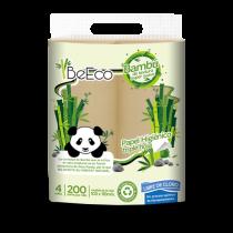 Papel Higiénico Be Eco Bambú Triple Hoja x4