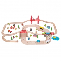 Bigjigs Toys Pista con Estación de Tren