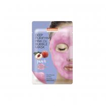 Mascarilla Purederm Deep Purifying Pink O2 Bubble Mask Pech