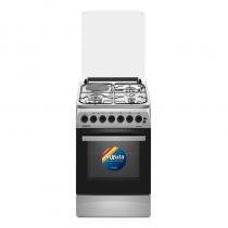 Cocina Enxuta CENX5546I Combinada 3 Hornallas y 1 Disco Eléctrico Inox