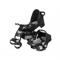 Coche Travel System Swiss Armor Negro y Gris