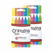 Crayolina Infantozzi Triangular Flúo 6 Colores