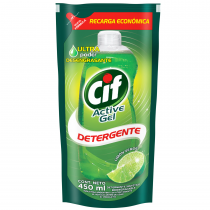 Detergente Cif Active Gel Limón Verde DP 450ML